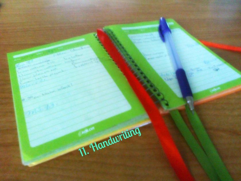 11.Handwriting