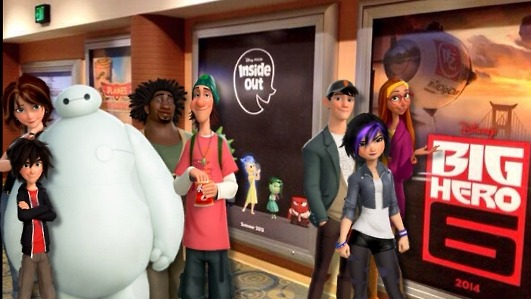 Big Hero 6 en el estreno de Big Hero 6