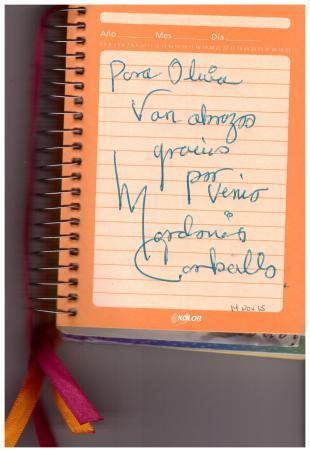 Autografo - Mardonio Carballo