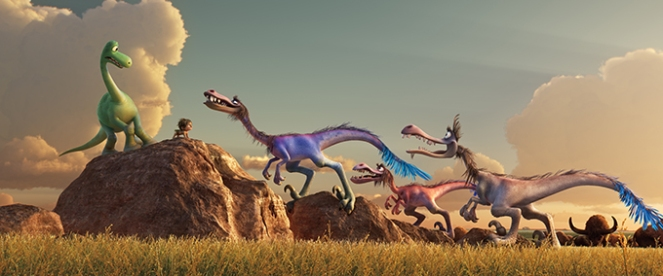 THE GOOD DINOSAUR (L-R) Arlo and Spot. ©2015 Disney•Pixar. All Rights Reserved.