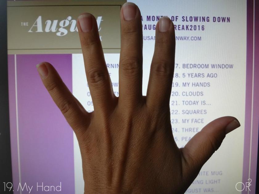 19.My hand